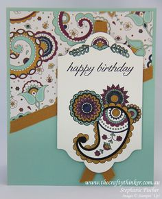 Stampin Up, #thecraftythinker, Paisleys & Posies, #crazycraftersbloghop