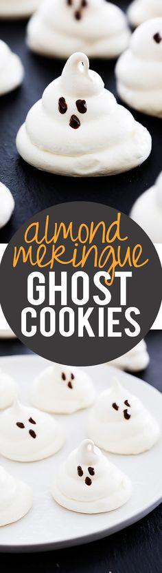 Almond Meringue Ghost Cookies | Creme de la Crumb