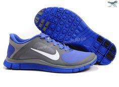 Running Cool Grey White Violet Force 580406-015 Mens Nike Free 4.0 V3