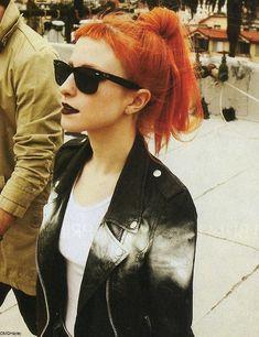 Hayley Williams // short bangs & orange hair.