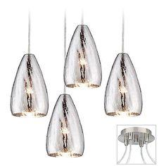 Possini Euro Design Portico Brushed Nickel 4 Swag Chandelier - #X9884-W6676   Lamps Plus