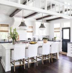 "149 Likes, 6 Comments - BROOKE COLLINS (@thedistrictdesigner) on Instagram: ""#WhiteKitchen Wednesday! My favorite day of the week because of course, I looove white kitchens,…"""