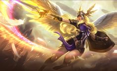 Freya is a hero in Mobile Legends that represents a Valkyrie in the Nordic Mythology in real life literature, renowned for their prowess in the. League Of Angels, League Of Heroes, League Of Legends, Loki, Thor, Black Wallpaper Iphone, Animal Wallpaper, Wallpaper Desktop, Nature Wallpaper