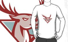 Deer Stag Buck Head Woodcut  t-shirt by patrimonio