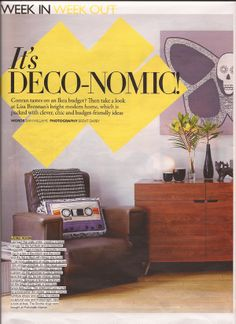 Grazia magazine did a whole 4 page feature on Brennan and Burch at home.
