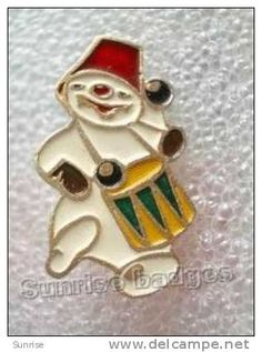 Celebration New year, Christmas. Snow man (Ded Moroz Friend and helper) / old soviet badge USSR _66_c3974 - Delcampe.ch