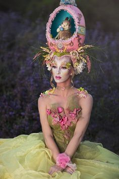 This crazy headdress is still one of my favorites. I want to make another faberge egg hat this year with a different theme. I would love to hear your ideas. :) Photographer: Emily Teague Photography Model: Jess Briguglio  Headdress: Miss G Designs Make-up: Mckenzie Gregg MUA Corset: Fiori Couture Lighting Assistant: Mark Gaynor  #headdress #headpiece #egg #faberegegg #spring #easter #bunny #missgdesigns