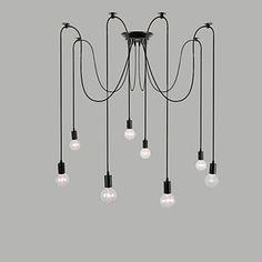8 Lights Chandeliers / Pendant Lights Traditional/Classic / Retro Bedroom / Study Room/Office / Hallway E26/E27 Metal 4481234 2016 – €67.61