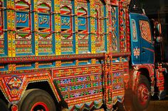 Truck Art In Baluchistan, Pakistan - This was a shot of a truck standing at an 'Adda' (Bus Stop).  Umair Mohsin