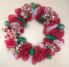 My candy deco mesh wreath!!!