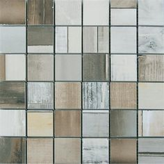 Urban Wood Mixed Mosaic Ceramic & Porcelain Backsplash Tile.
