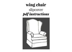 Vintage Wing Chair Slipcover Instructions Instant Download PDF 3 pages plus Basic How-To's Pdf Patterns, Craft Patterns, Vintage Patterns, Page Plus, Wing Chair, Slipcovers For Chairs, Chair And Ottoman, Ottomans, 1980s