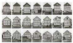 Framework Houses. Photographs by Bernd and Hilla Becher.