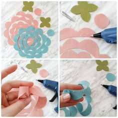 How to make a rolled felt flower #feltflowers