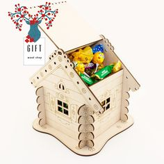 Excited to share the latest addition to my #etsy shop: Candy storage. Wooden craft box. Paint base. Handmade. Laser cut set. Gift for kids.