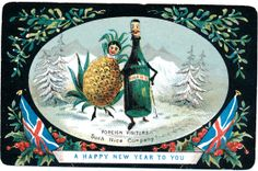 Victorian New Year Card
