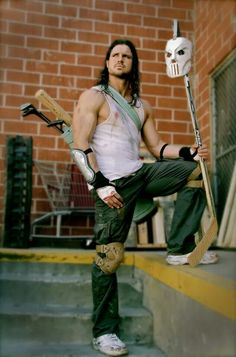 This is perfect.... :3 John Morrison as Casey Jones hell yeah!