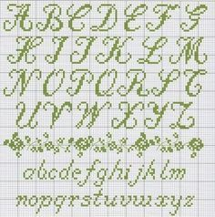 Cross Stitch Cursive Alphabet Alphabets fonts on pinterest