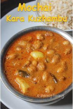 Chettinad Mochai Kara Kuzhambu Recipe - Mochai Kottai Kuzhambu
