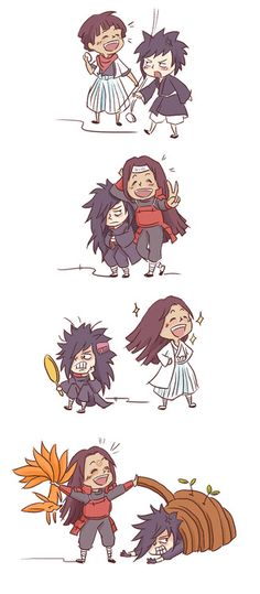 Hashirama and Madara.
