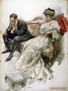 Прекрасные дамы Harrison Fisher. Обсуждение на LiveInternet - Российский Сервис Онлайн-Дневников
