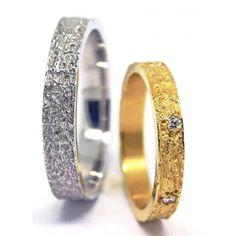alliance-or-18-carats-original-design-martelee-