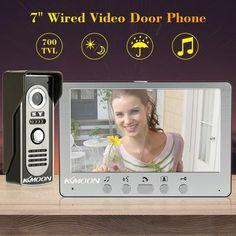 Waterproof Rain Cover Free Shipping New 7 Door Monitor Video Intercom Home Door Phone Recorder System 8g Sd Em Door Lock Elegant In Smell
