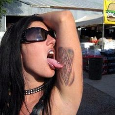 Her mom must be so proud. | 31 Joke Tattoos You Won't Believe Actually Exist