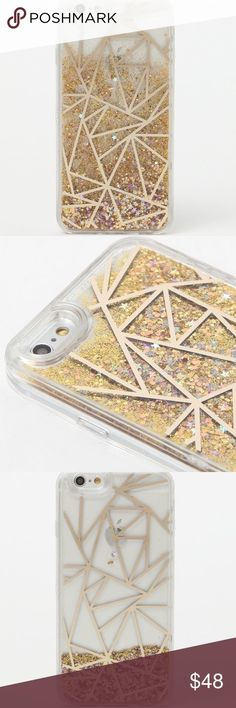 iPhone 6/6s phone case NEW in box - bought 2 and using one. Gold Recover iPhone case with glitter and stars that move with the case. RARE Accessories Phone Cases