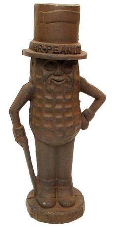 "Mr. Peanut 11"" Rust Cast Iron Bank"