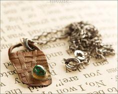 Sterling Silver & Etched Reclaimed Copper Necklace - Jewelry by Jason Stroud.