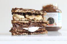 Nutiva Chocolate Hazelnut Spread Sandwich kitchen.nutiva.com