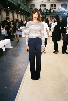 Jeanne Damas with everything a perfect length