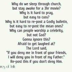 GOD/Jesus first Nuff Said...