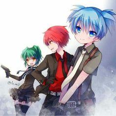 Nagisa, Kayano and Karma  Assassination Classroom