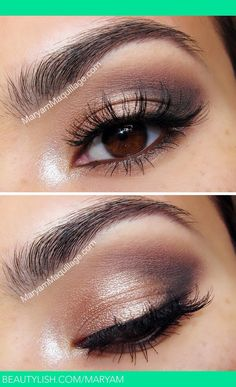 When it comes to eye make-up you need to think and then apply because eyes talk louder than words. The type of make-up that you apply on your eyes can talk loud about the type of person you really are. Beauty Make-up, Beauty Hacks, Hair Beauty, Beauty Tips, Beauty Products, Face Products, Makeup Products, Makeup Brands, Beauty Secrets