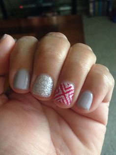 A fun little mani customized for me by Liz.