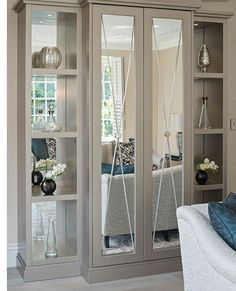 A bespoke mirrored drinks cabinet with sliding doors © Hill House Interiors Home Decor Trends, Home Decor Styles, Casa Patio, Interior Design Boards, European Home Decor, Eclectic Decor, Contemporary Decor, Dining Room Furniture, Design Case