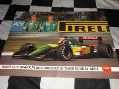 NGK JOHNNY HERBERT MIKA HAKKINEN LOTUS FORD 107 102D 1992 F1 TEAM POSTER LARGE