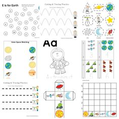 Space Printable Pack for Preschoolers
