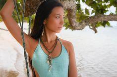 adove fine jewelry 2013 look book. land locked mermaid collection. model-kanako, swimwear-made by dawn, photography-mami