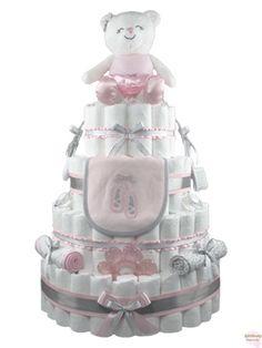 ballet diaper cake