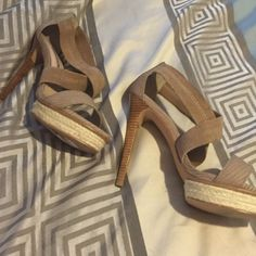 Beige heels Only wore once.. H by Halston Shoes Heels