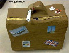 Sinterklaas surprise: Surprise koffer knutselen met foto's erop. Met cadeauzakje erop met gedicht erin.