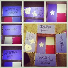 Care package box for my boyfriend who lives in Texas!