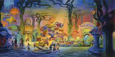 Mermaid Lagoon, Tokyo Disney Sea, Concept Art, Artist: Phillip Freer