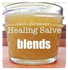 DIY: 3 All~Purpose Healing Salve Recipes - they promote natural healing and they have antiseptic properties - via Camp Wander