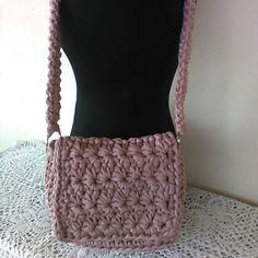 Borsa tracolla Rosa Antico punto margherita  Crochet bagHandmade Crochet Crossbody Bag | Shoulder Bag