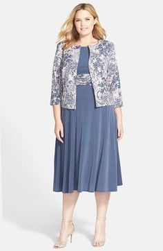 53c75f6f0210 Jessica Howard Ruched Waist Dress & Jacket (Plus Size) available at  #Nordstrom
