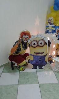 Palhaço popozudo: Popozudo na festa infantil...ele ama os minions